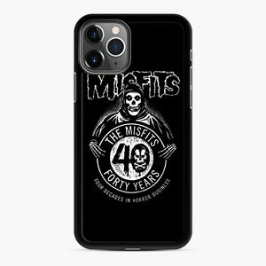 Misfits 40th Anniversary iPhone 11 Pro Case, Black Rubber Case | Webluence.com