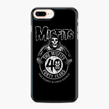 Load image into Gallery viewer, Misfits 40th Anniversary iPhone 7,8 Plus Case, Black Plastic Case | Webluence.com