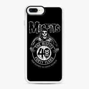 Misfits 40th Anniversary iPhone 7,8 Plus Case, White Rubber Case | Webluence.com