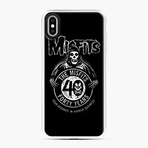 Misfits 40th Anniversary iPhone XS Max Case, White Plastic Case | Webluence.com