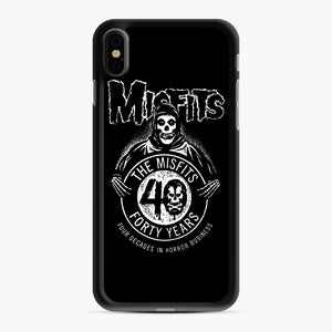 Misfits 40th Anniversary iPhone XS Max Case, Black Rubber Case | Webluence.com
