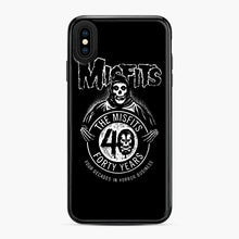 Load image into Gallery viewer, Misfits 40th Anniversary iPhone XS Max Case, Black Plastic Case | Webluence.com