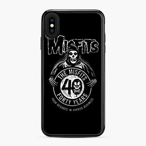 Misfits 40th Anniversary iPhone XS Max Case, Black Plastic Case | Webluence.com