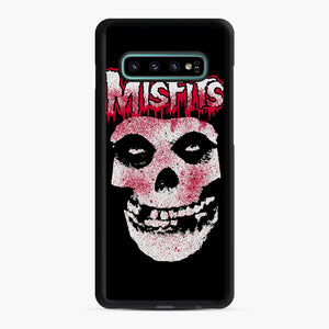 Misfits Bloody Skull Adult Samsung Galaxy S10 Plus Case, Black Rubber Case | Webluence.com