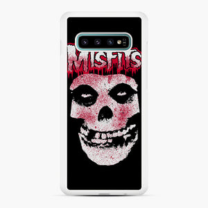 Misfits Bloody Skull Adult Samsung Galaxy S10 Plus Case, White Rubber Case | Webluence.com