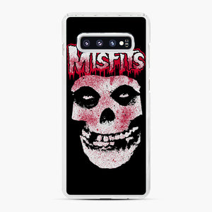 Misfits Bloody Skull Adult Samsung Galaxy S10 Plus Case, White Plastic Case | Webluence.com