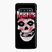 Load image into Gallery viewer, Misfits Bloody Skull Adult Samsung Galaxy S10 Plus Case, Black Plastic Case | Webluence.com