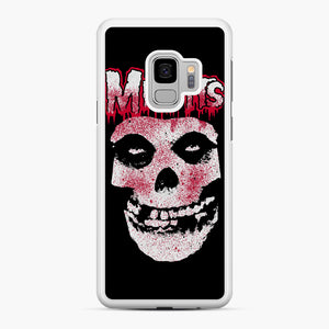 Misfits Bloody Skull Adult Samsung Galaxy S9 Case, White Rubber Case | Webluence.com