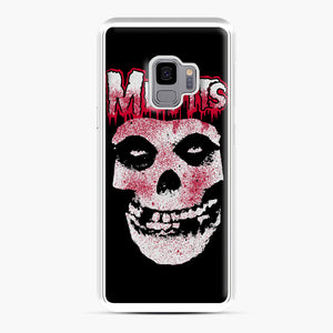 Misfits Bloody Skull Adult Samsung Galaxy S9 Case, White Plastic Case | Webluence.com