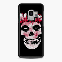 Load image into Gallery viewer, Misfits Bloody Skull Adult Samsung Galaxy S9 Case, Black Rubber Case | Webluence.com
