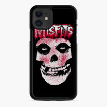 Load image into Gallery viewer, Misfits Bloody Skull Adult iPhone 11 Case, Black Rubber Case | Webluence.com