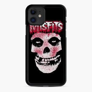 Misfits Bloody Skull Adult iPhone 11 Case, Black Rubber Case | Webluence.com