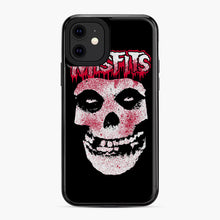 Load image into Gallery viewer, Misfits Bloody Skull Adult iPhone 11 Case, Black Plastic Case | Webluence.com
