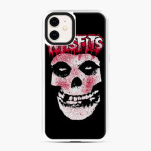 Load image into Gallery viewer, Misfits Bloody Skull Adult iPhone 11 Case, White Plastic Case | Webluence.com
