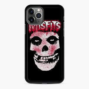Misfits Bloody Skull Adult iPhone 11 Pro Max Case, Black Rubber Case | Webluence.com