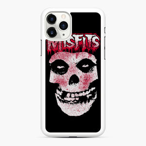 Misfits Bloody Skull Adult iPhone 11 Pro Max Case, White Rubber Case | Webluence.com