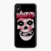 Load image into Gallery viewer, Misfits Bloody Skull Adult iPhone XS Max Case, Black Plastic Case | Webluence.com