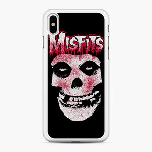 Misfits Bloody Skull Adult iPhone XS Max Case, White Rubber Case | Webluence.com