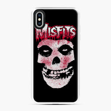 Load image into Gallery viewer, Misfits Bloody Skull Adult iPhone XS Max Case, White Plastic Case | Webluence.com