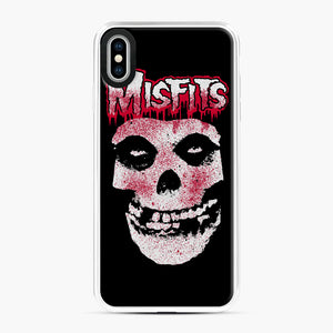 Misfits Bloody Skull Adult iPhone XS Max Case, White Plastic Case | Webluence.com