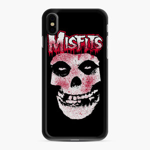 Misfits Bloody Skull Adult iPhone XS Max Case, Black Rubber Case | Webluence.com