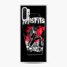 Load image into Gallery viewer, Misfits Coffin Graphic Samsung Galaxy Note 10 Plus Case, White Plastic Case | Webluence.com