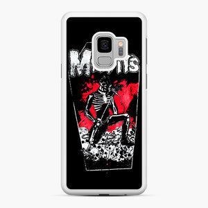 Misfits Coffin Graphic Samsung Galaxy S9 Case, White Rubber Case | Webluence.com