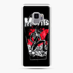 Misfits Coffin Graphic Samsung Galaxy S9 Case, White Plastic Case | Webluence.com