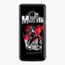 Load image into Gallery viewer, Misfits Coffin Graphic Samsung Galaxy S9 Case, Black Plastic Case | Webluence.com