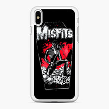 Load image into Gallery viewer, Misfits Coffin Graphic iPhone XS Max Case, White Rubber Case | Webluence.com