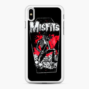 Misfits Coffin Graphic iPhone XS Max Case, White Rubber Case | Webluence.com