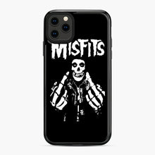 Load image into Gallery viewer, Misfits Fxx Skull Logo Hot iPhone 11 Pro Max Case, Black Plastic Case | Webluence.com