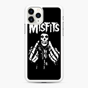 Misfits Fxx Skull Logo Hot iPhone 11 Pro Max Case, White Rubber Case | Webluence.com