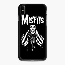 Load image into Gallery viewer, Misfits Fxx Skull Logo Hot iPhone XS Max Case, Black Rubber Case | Webluence.com
