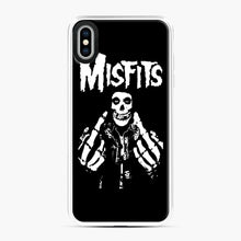 Load image into Gallery viewer, Misfits Fxx Skull Logo Hot iPhone XS Max Case, White Plastic Case | Webluence.com