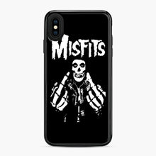 Load image into Gallery viewer, Misfits Fxx Skull Logo Hot iPhone XS Max Case, Black Plastic Case | Webluence.com