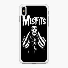 Load image into Gallery viewer, Misfits Fxx Skull Logo Hot iPhone XS Max Case, White Rubber Case | Webluence.com