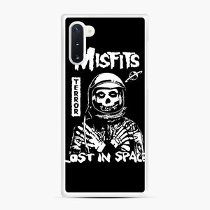 Misfits Lost In Space Rock Band Samsung Galaxy Note 10 Case, White Rubber Case | Webluence.com