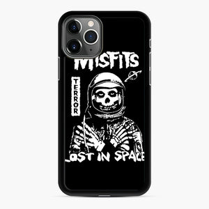 Misfits Lost In Space Rock Band iPhone 11 Pro Case, Black Rubber Case | Webluence.com