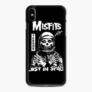 Misfits Lost In Space Rock Band iPhone XS Max Case, Black Rubber Case | Webluence.com
