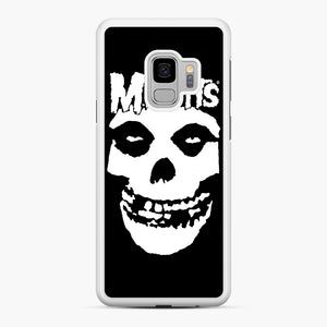 Misfits New Skull Samsung Galaxy S9 Case, White Rubber Case | Webluence.com