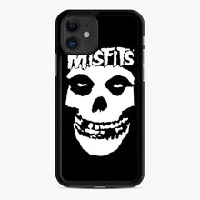 Load image into Gallery viewer, Misfits New Skull iPhone 11 Case, Black Rubber Case | Webluence.com