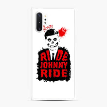 Load image into Gallery viewer, Misfits Ride Johnny Ride Samsung Galaxy Note 10 Plus Case, White Rubber Case | Webluence.com