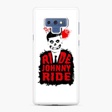 Load image into Gallery viewer, Misfits Ride Johnny Ride Samsung Galaxy Note 9 Case, White Rubber Case | Webluence.com