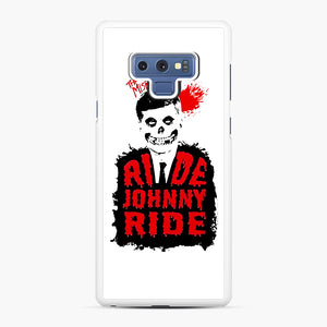 Misfits Ride Johnny Ride Samsung Galaxy Note 9 Case, White Rubber Case | Webluence.com