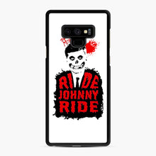 Load image into Gallery viewer, Misfits Ride Johnny Ride Samsung Galaxy Note 9 Case, Black Rubber Case | Webluence.com