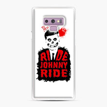 Load image into Gallery viewer, Misfits Ride Johnny Ride Samsung Galaxy Note 9 Case, White Plastic Case | Webluence.com