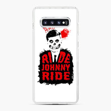 Load image into Gallery viewer, Misfits Ride Johnny Ride Samsung Galaxy S10 Plus Case, White Plastic Case | Webluence.com