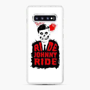Misfits Ride Johnny Ride Samsung Galaxy S10 Plus Case, White Plastic Case | Webluence.com