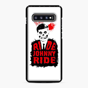 Misfits Ride Johnny Ride Samsung Galaxy S10 Plus Case, Black Plastic Case | Webluence.com
